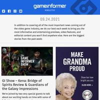 Game Informer September 24th 2021 Newsletter