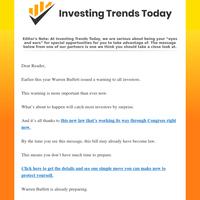 ➥Warren Buffett's Latest Warning  ⍟  Friday, September 24, 2021