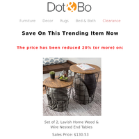 This week: Fall decor at up to 65% off