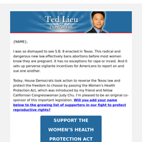 Sign your name: Support the Women's Health Protection Act!