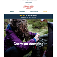 Overnight adventures? Carry on camping