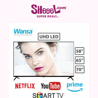 Buy Now WANSA UHD Smart LED TV+ Wall Bracket (FREE Delivery and Installation), Starting from 164.9KD!