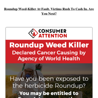 $2 Billion Verdict Awarded In Weedkiller Lawsuit. Are you eligible?