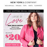 Layers Of LOVE! Shop Outerwear As Low As $20!