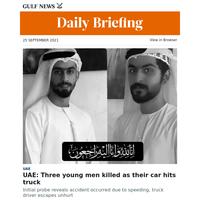 UAE: Three young men killed as their car hits truck
