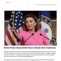 Pelosi Plows Ahead With Plan to Break Dem Standoff