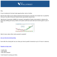 One simple trading tool... with powerful results.