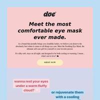 The COMFIEST eye-tem awaits...