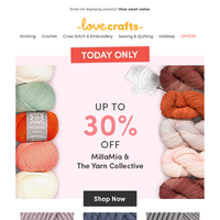 30% MillaMia + The Yarn Collective | NEW patterns