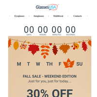 🔴 Just for today 🔴 HUGE fall savings on great glasses