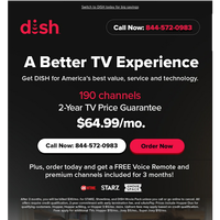 Get DISH: America's Best Value, Service, and Technology