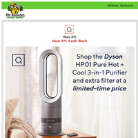 QVC: Dyson HP01 Pure Hot + Cool 3-in-1 Purifier + 6% Cash Back!