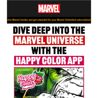 Dive Deep Into the Marvel Universe With the Happy Color App!