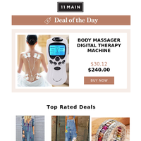 Today's Pick: Body  Massager  Digital  Therapy  Machine  8  Pads  For  Back  Neck  Foot  Leg  health  Care