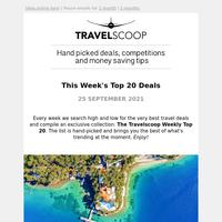 Travelscoop® Top 20 Travel Deals - September 25th