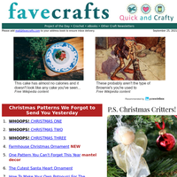 Darn! 25 Christmas Patterns We Forgot to Send You Yesterday