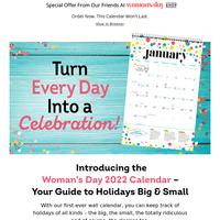 Get the first-ever calendar from Woman's Day!