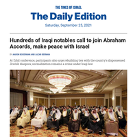 In Iraq, a unique call for peace * 'Ancient meteor inspired Sodom' * Britney dad's Israel spies * AOC: I wept over unjust Iron Dome bill * Slovaks who warned of Auschwitz