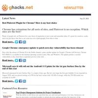 Ghacks Newsletter