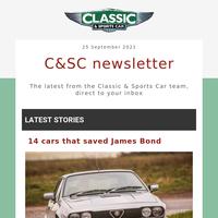 14 cars that saved James Bond, plus Ferrari vs Maserati, 24 £20k classics and more
