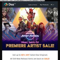 Final Days of Premiere Artist Sale!