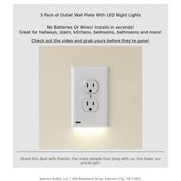Unique outlet night lights...