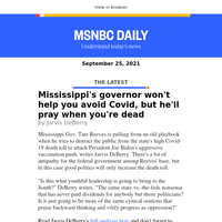 It's Covid, not the federal government that's killing Mississippi
