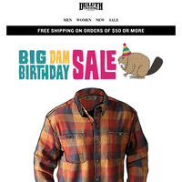 $35 Free Swingin' Flannels - A Birthday Price Chop!