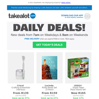 🤩⏳ UNMISSABLE DAILY DEALS! ⏳🤩 | Calvin Klein EDT, LEGO® Duplo Town Pizza Stand Set, Cadac Charcoal Meridian Swing Grill