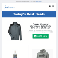 Up to 90% off Proozy Weekend Sale | GE Window & Door Max Shield All Weather Caulk for $2.99 | Up to 70% off PUMA End of Summer Sale