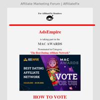 AdsEmpire - Vote For Us - The MAC AWARDS