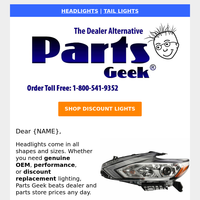 Don't Wait! Discount Headlights are Running Low
