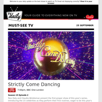 Don't miss: Strictly Come Dancing at 7:00pm on BBC One London