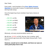 Trades of the Week From Former CBOE Trader
