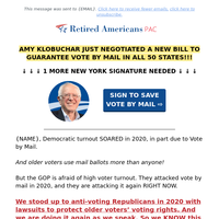 NEW: New York Petition to Pass Vote by Mail