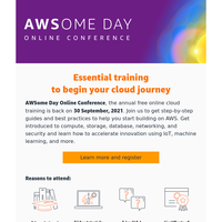 AWSome Day Online Conference is Back | Registration open