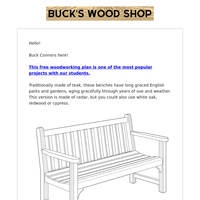 Free Plan Download! Garden Bench