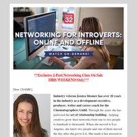 Special Weekend Sale - $50 Off Networking Class for Introverts