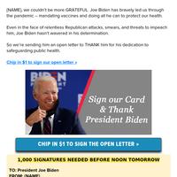 THANK YOU Joe Biden!