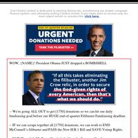 President Obama's filibuster BOMBSHELL💣