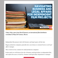 Navigating Business & Legal Affairs for Independent Film Projects