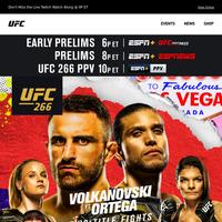 UFC 266 | 10P ET TONIGHT | 2 TITLE FIGHTS 🏆 1 EPIC REMATCH