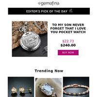 Editor's Pick: To My Son Never Forget That I Love You Pocket Watch