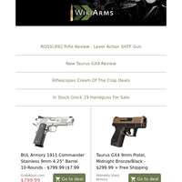 💥Taurus GX4 9mm $299, GSG Firefly 22LR $217, FN FiveSeven FDE $939, JRA Polish AK47 762x39 $699, Taurus 44 Tracker 44Mag 4\