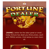 Mr./Mrs. {NAME} Fortune Has Dealt You: