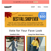 Vote for your fave Fall Shop look!🍂