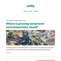 The carbon footprint of growing weed