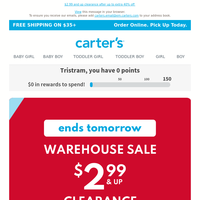 Our Warehouse Sale ends TOMORROW!
