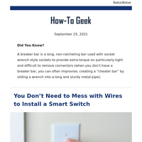You Don't Need to Mess with Wires to Install a Smart Switch