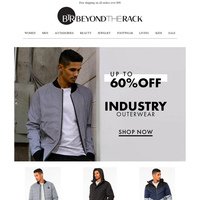 Up to 60% off Outerwear 🍂 Industry outerwear, NVLT, Badgley Mishcka and more